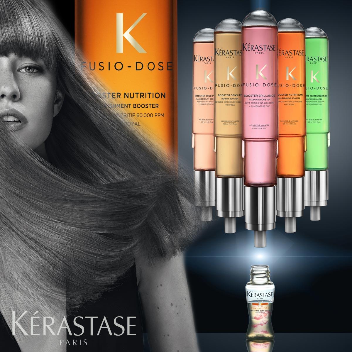 Expresní regenerace vlasů je teď možná díky službě salonů Kérastase – Fusio Dose.