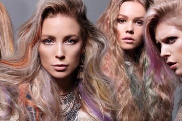 Duhové vlasy jako decentní extravagance! (Účesy jsou z kolekce Tigerlamb – Sugarlamb (pastels) pro podzim/zima 2015/2016).