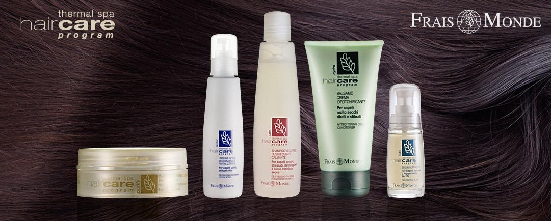 Frais Monde nabízí rozsáhlou řadu vlasové kosmetiky pro různé typy vlasů a problémů s vlasy.