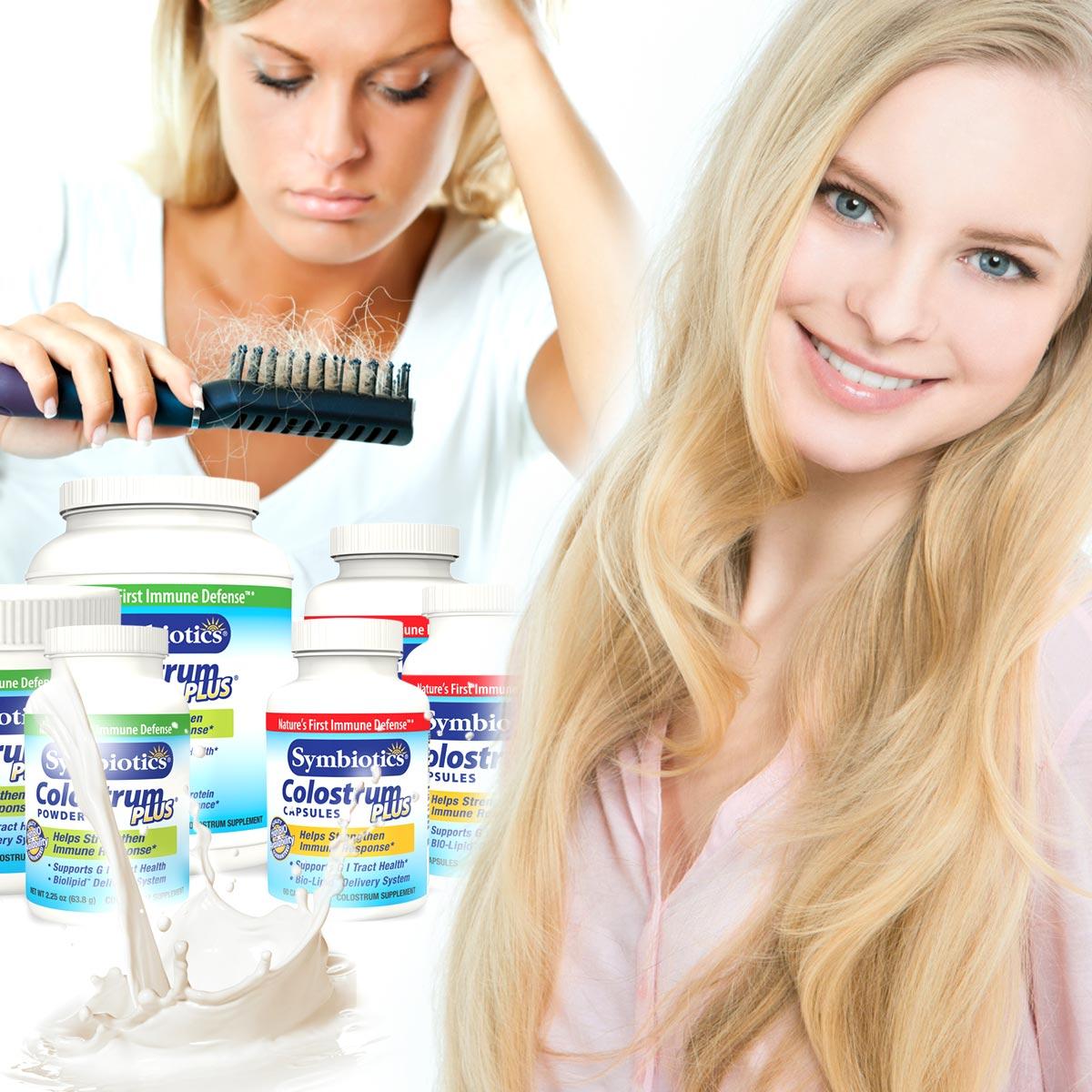 Kolostrum může pomoci s padáním vlasů!