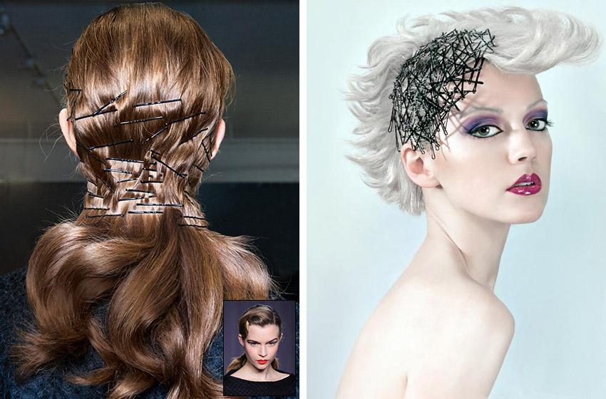 Obyčejné sponky do vlasů jsou módním trendem. Svět kadeřníků, celebrit i fashion blogerek zachvátila pins obsession!