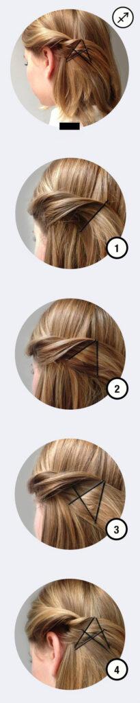 Tipy na dva jednoduché účesy pomocí obyčejné vlasové sponky