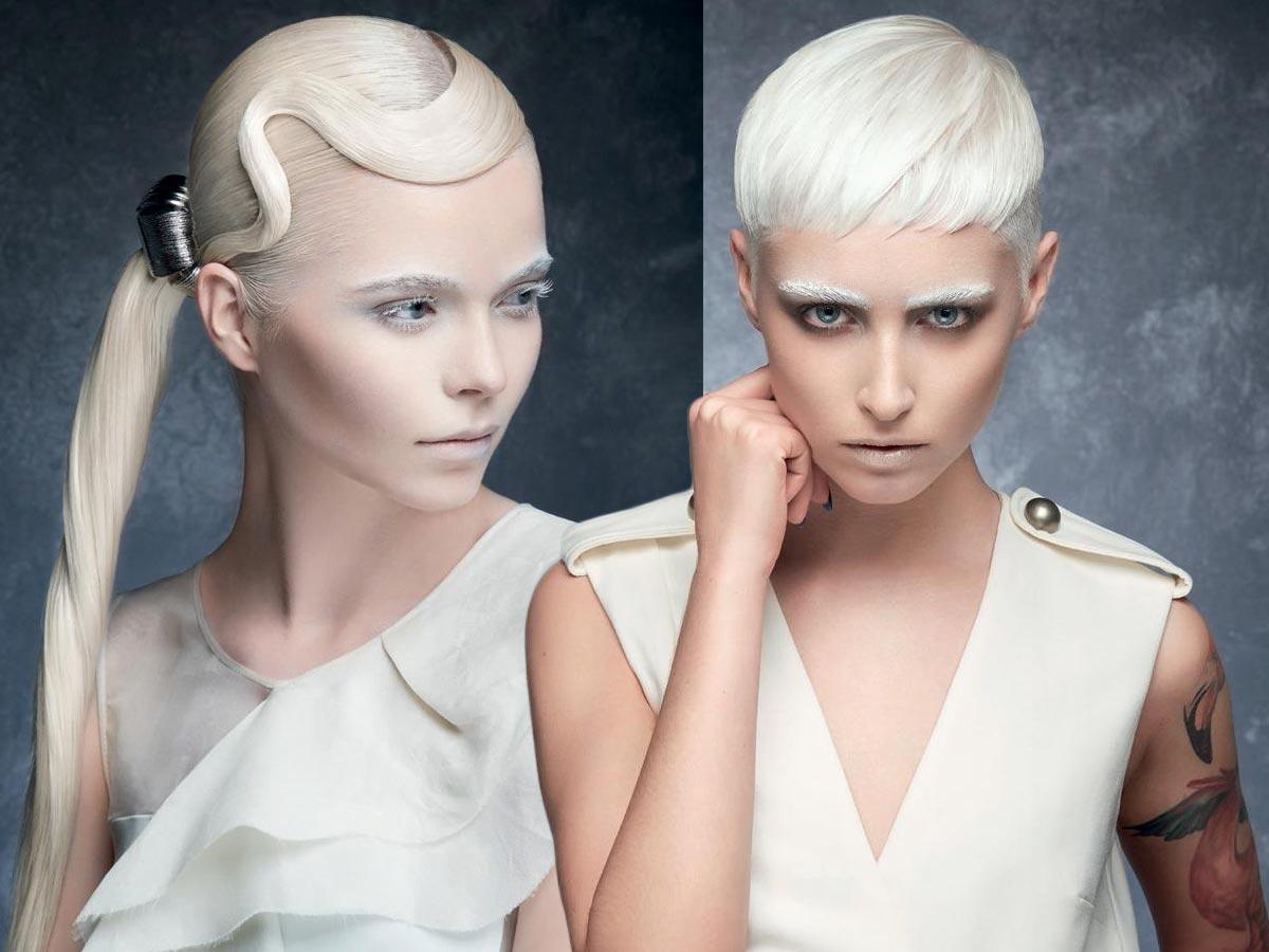 Účes na párty pro podzim/zima 2015/2016: Make-up a účes musí ladit! Barvu vlasů můžete doladit s barvou obočí řas, třeba do platinově bílé!