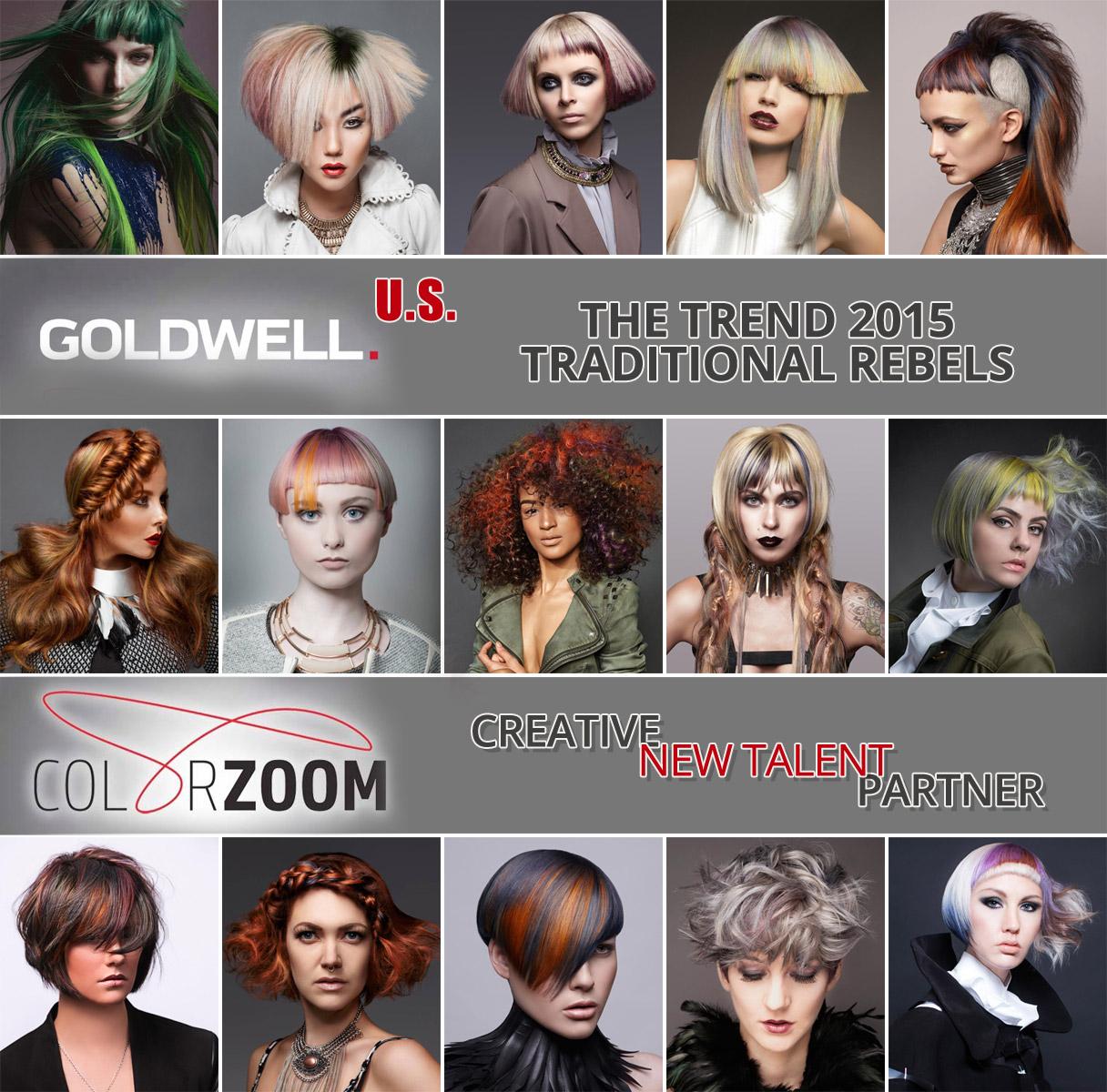 Goldwell Color Zoom 2015 U. S. – toto jsou nejlepší účesy Ameriky na téma Tradiční rebelové v jednotlivých kategoriích soutěže.