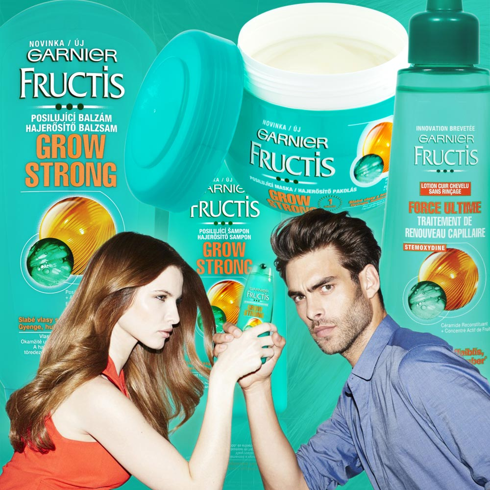 Garnier Fructis Grow Strong pro slabé vlasy je určená pro slabé vlasy a také pro vlasy jemné.