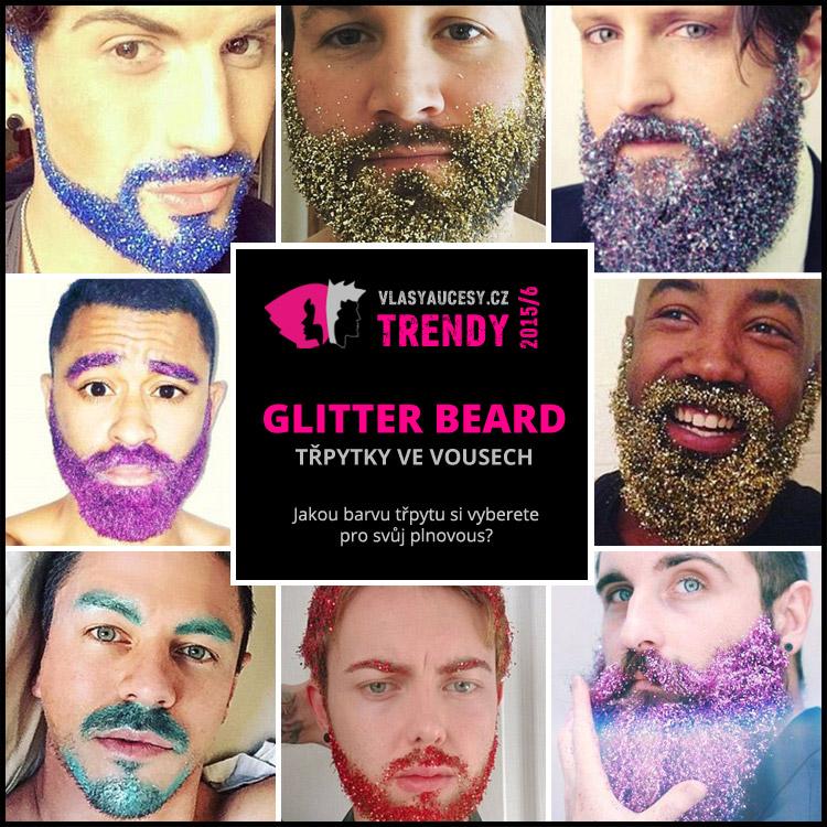 Muži si zdobí vousy třpytkami. Glitter beard – neboli třpytky ve vousech, jsou hitem sociálních sítí.