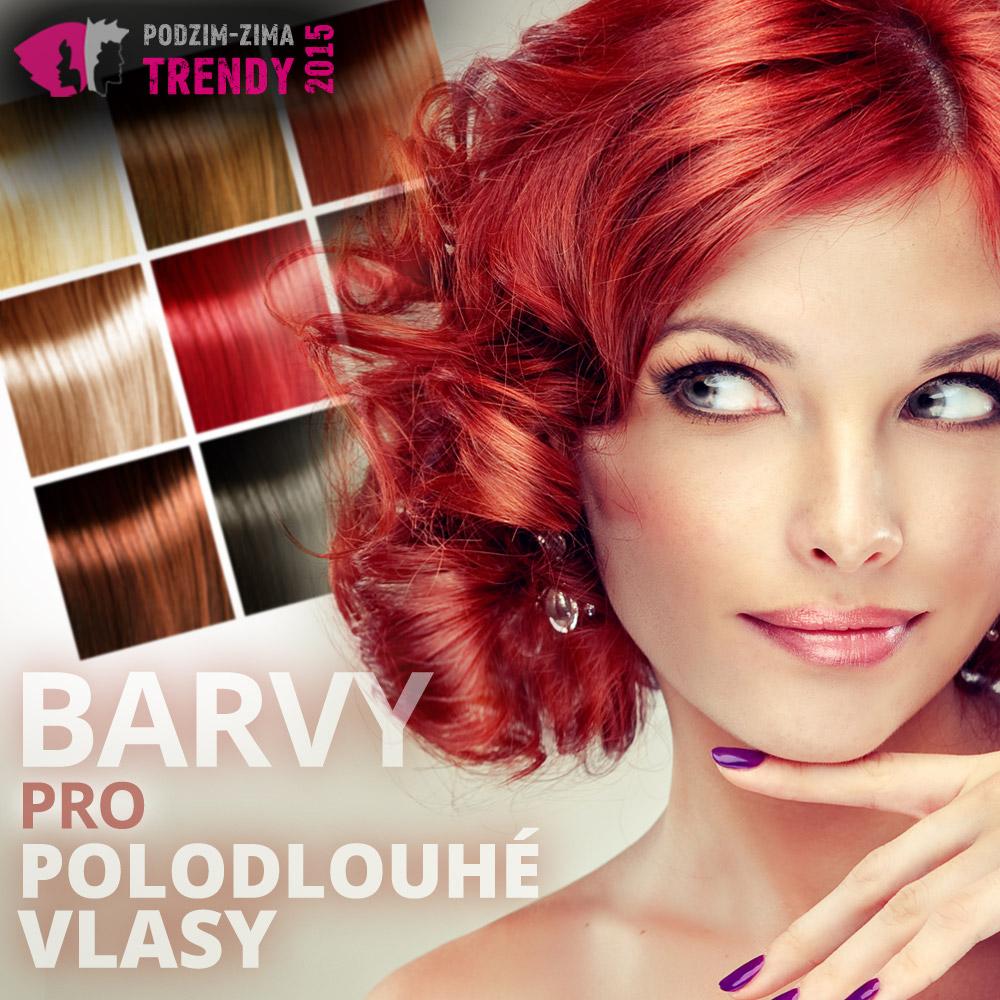 Barvy pro polodlouhé vlasy – podívejte se na barevné vlasové trendy podzim/zima 2015/2016.