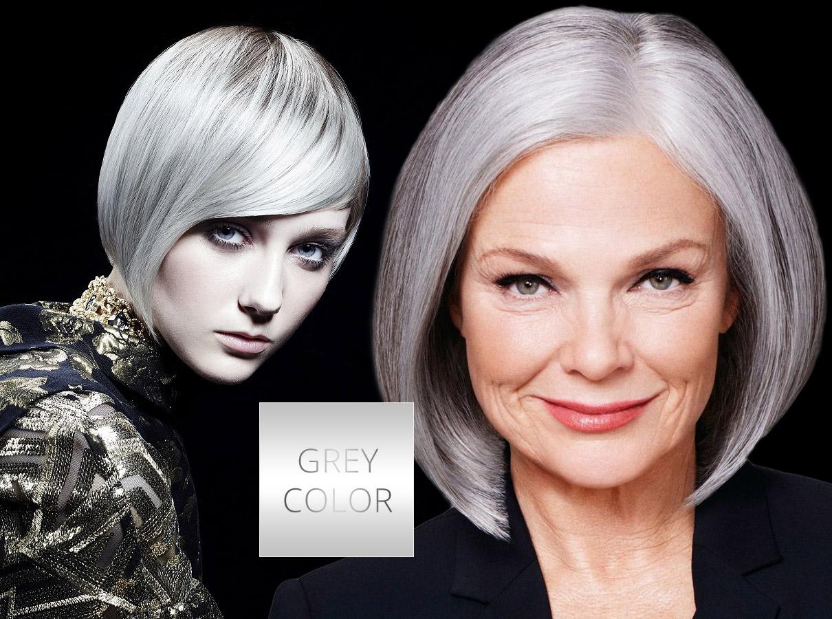 Barvy pro polodlouhé vlasy – trendy podzim/zima 2015/2016: Šedé vlasy se prosadí i jako klíčová barva.
