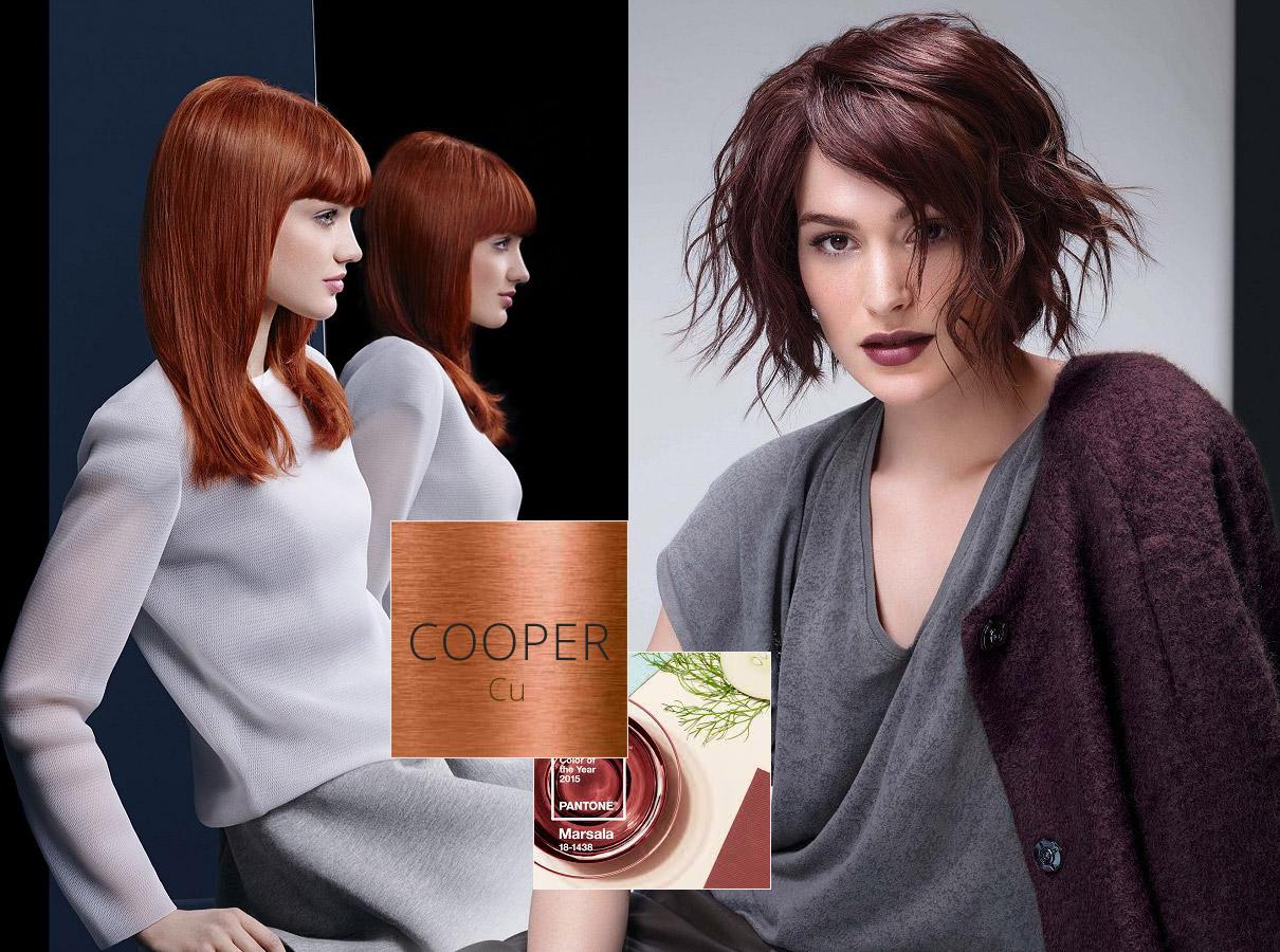 Barvy pro polodlouhé vlasy – trendy podzim/zima 2015/2016: Hnědočervené krásky –Marsala a měď, to pořád nevzdávají.