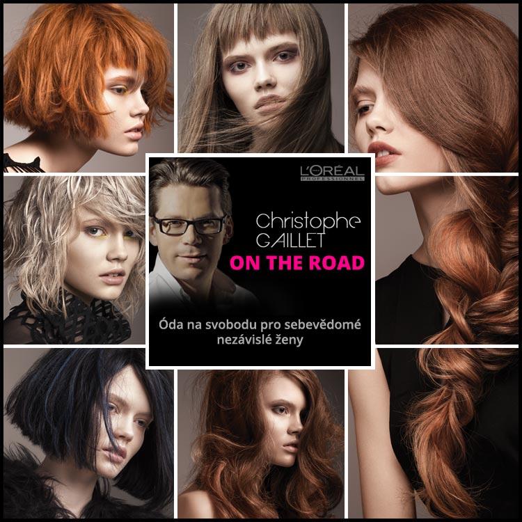 Vlasový mág Christophe Gaillet představuje svoje účesy pro podzim a zimu 2015/2016 – On the Road. Kolekce vznikla pro L'Oréal Professionnel.