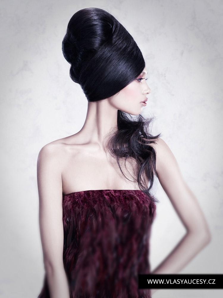 Dlouhé vlasy 2016 jako hladké drdoly a výčesy. (David Corbett / British Hairdressing Awards 2015)