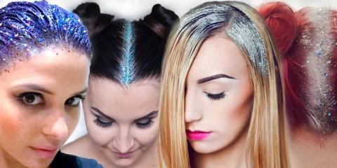 Glitter roots je nová móda, která dobývá sociální sítě.