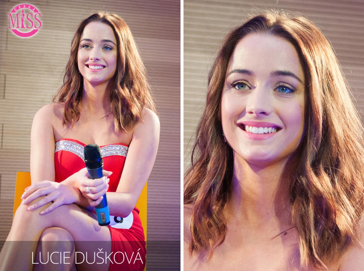 Česká Miss 2016 Lucie Dušková, Vejprnice, studentka Fakulty humanitních studií UK – jedna z top 10 finalistek.