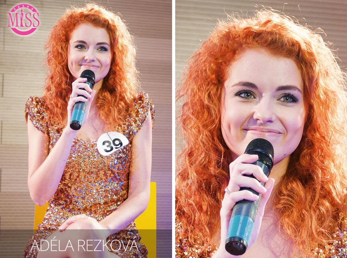 Česká Miss 2016 Adéla Rezková, Uherské Hradiště, Masarykova Univerzita v Brně, speciální pedagogika – jedna z top 10 finalistek.