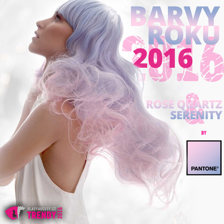 Rose Quartz a Serenity – barvy roku 2016. (Účes: Alann Sluser, Contessa 2015 – Canadian Hairdressing Awards.)