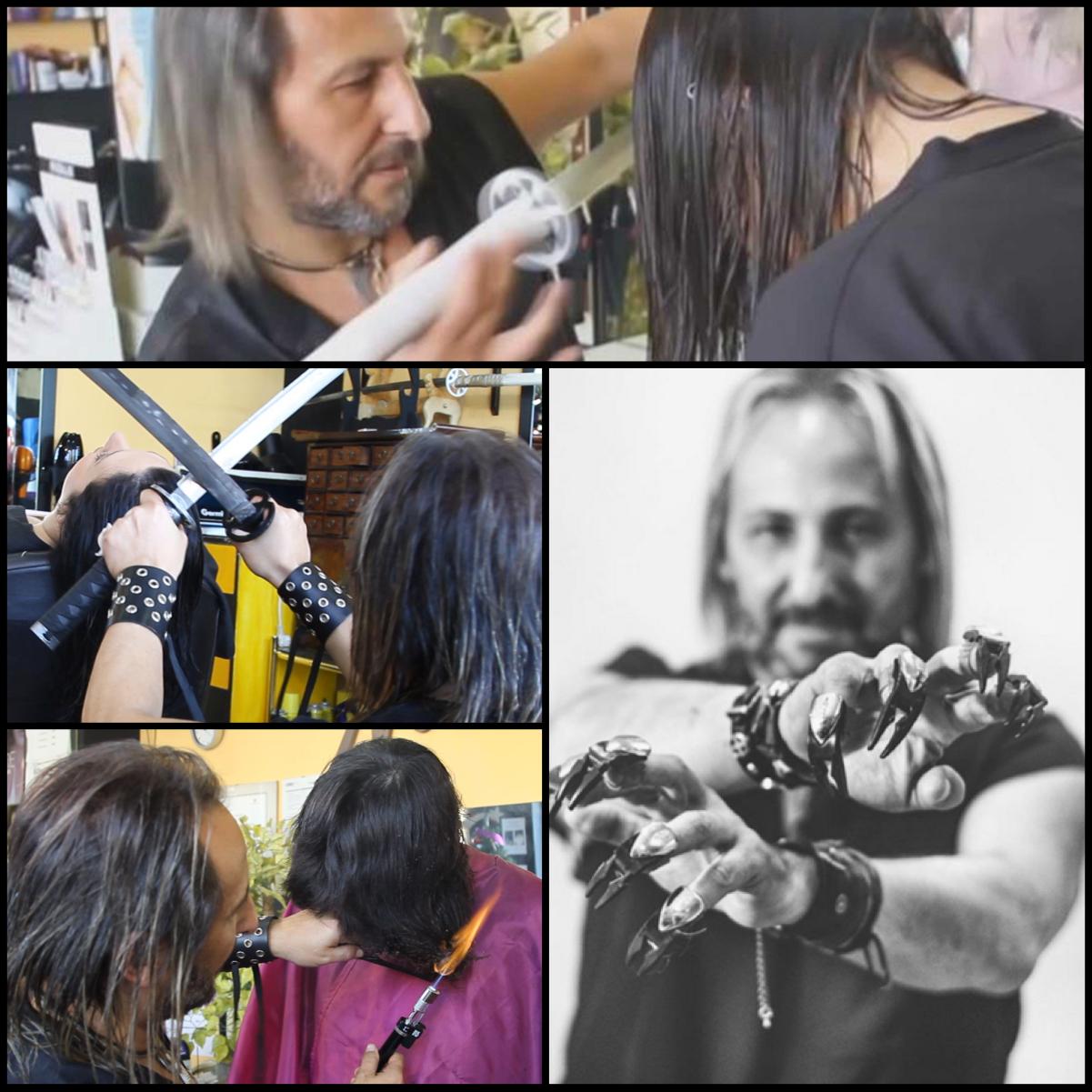 Alberto Olmedo stříhá vlasy mečem, ohněm a speciálními prstovými nůžkami. I proto si vysloužil přezdívku Střihoruký Edward.