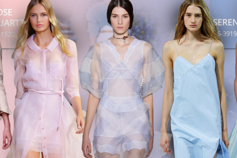 Barvy roku 2016 a móda: vládnout bude růžová barva Rose Quartz, modrá Serenity a rovněž odstíny, které vznikají jejich prolínáním.