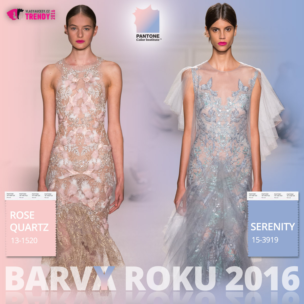 Barvy roku 2016 a móda Marchesa – kolekce jaro/léto 2016.