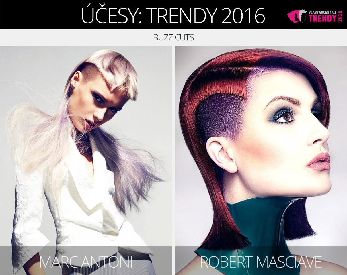 Trendy pro dámské účesy 2016: Buzz cut účesy