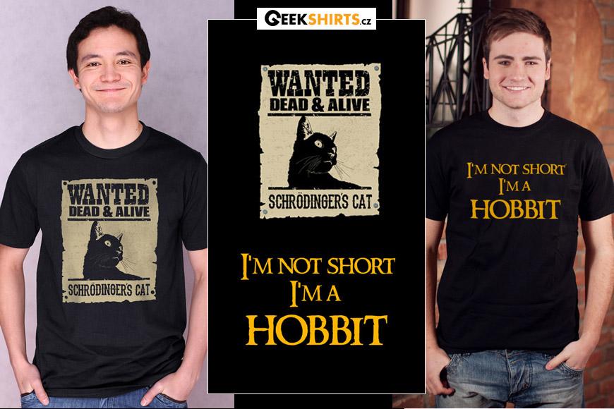 Vtipná trička s potiskem od Geekshirts.cz otestují inteligenci i to, zda se někdo hodí do party.