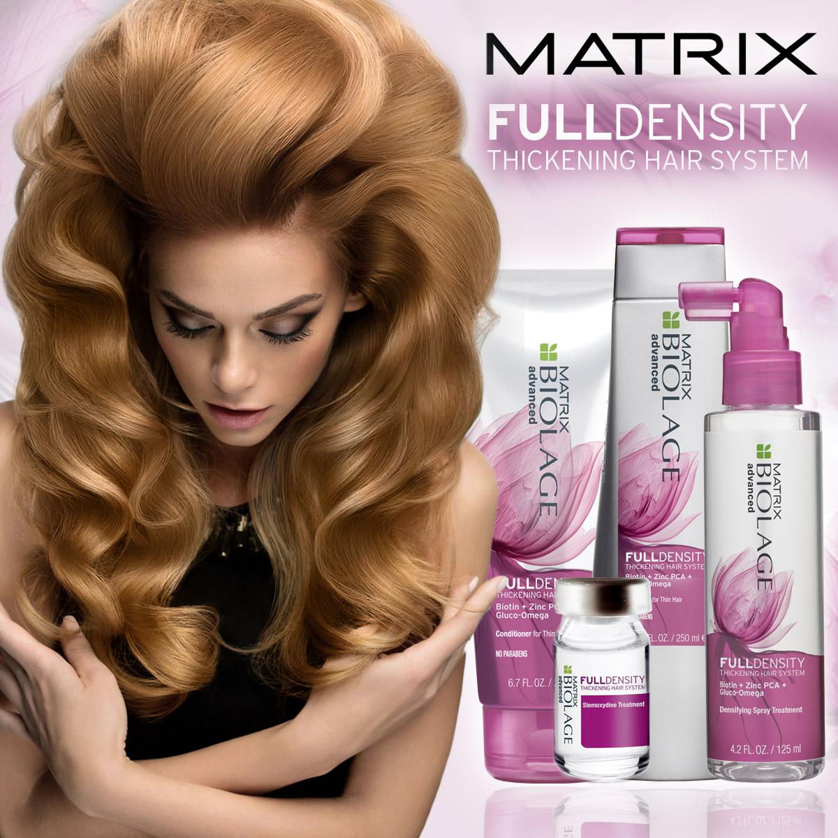 Fulldensity Biolage Advanced od Matrix odstraní vaše problémy s řídkými vlasy.