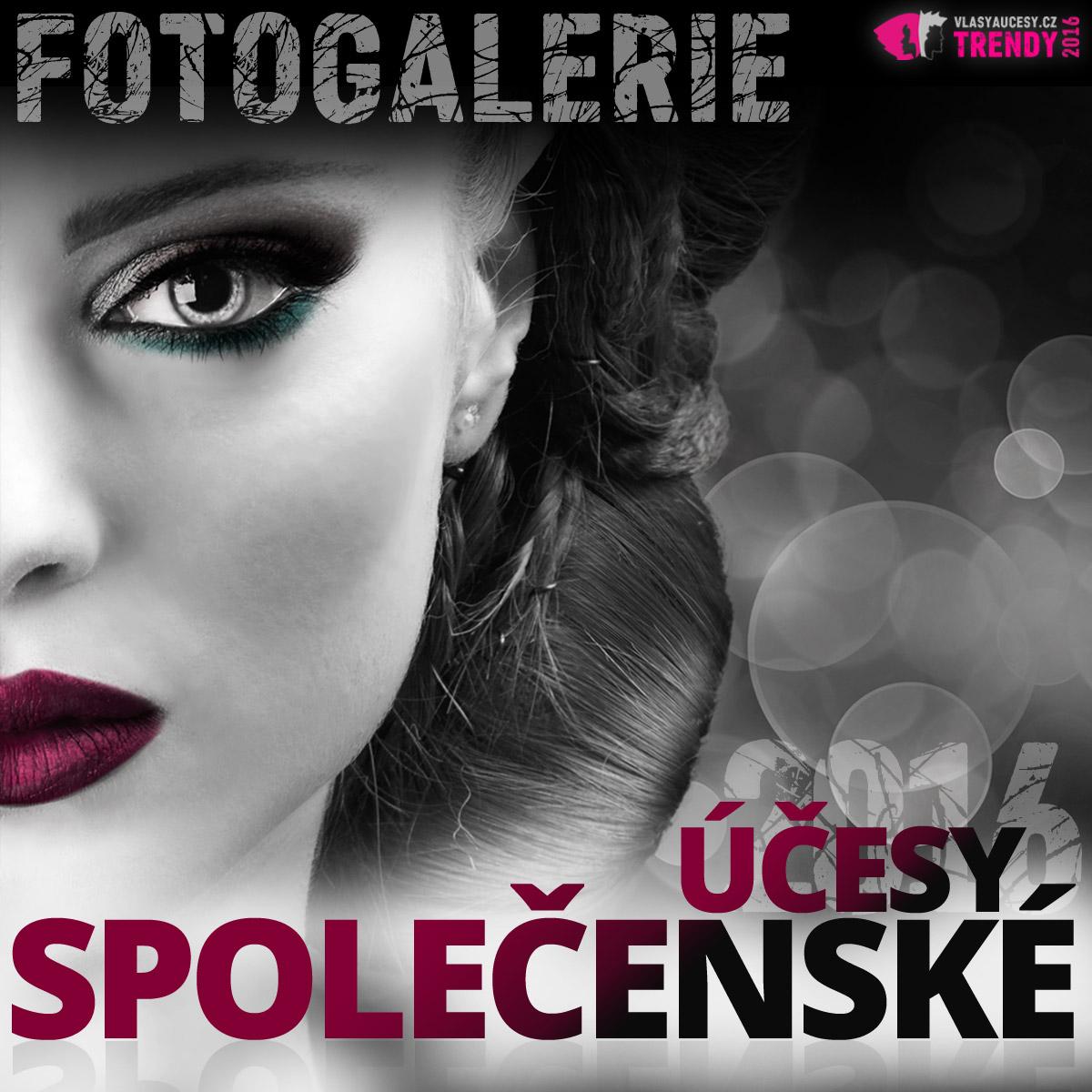 Společenské účesy fotogalerie: inspirujte se účesy na ples a slavnostními účesy pro všechny délky vlasů.