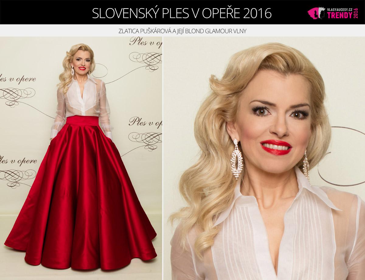 Ples v opeře 2016 Bratislava – Zlatica Puškárová