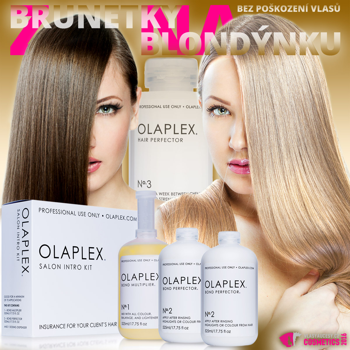 Olaplex – jedna ingredience, která mění vše! Přípravek slibuje, že ať je přidán do jakékoliv barvy či odbarvovače, vždy ochrání vlasy před poškozením.