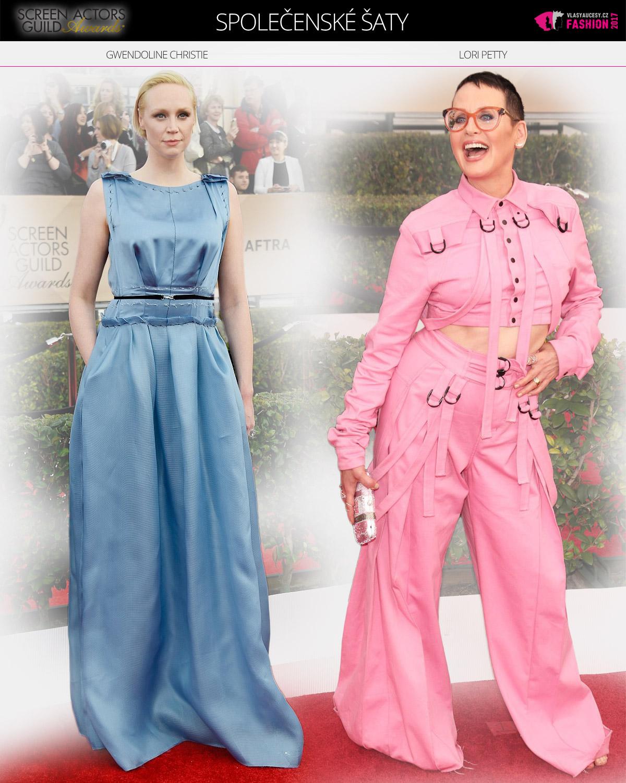 Bulvárem kritizované outfity Lori Petty a Gwendoline Christie- Nám se líbí – jsou nápadité a rozhodně nenudí!