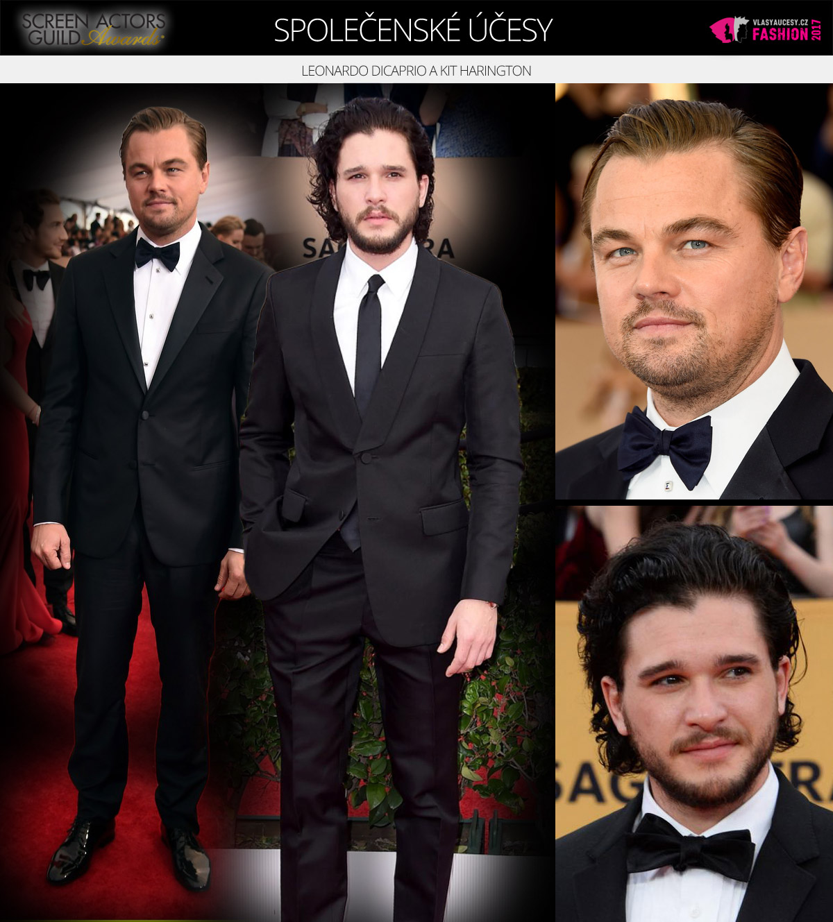 Leonardo DiCaprio a Kit Harington (John Snow z Game Of Thrones)