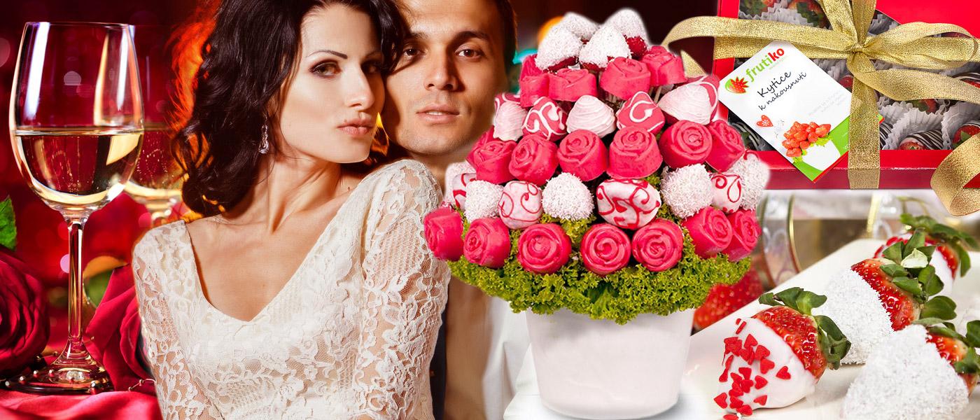 Láska prochází žaludkem a tak je ten nejlepší dárek k Valentýnu rozhodně jedlý! Věnujte gurmánsky dárek z lásky – ovocné kytice od Frutiko.