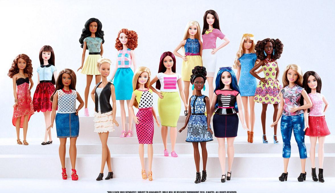 Po 57 letech se Barbie dočkala nové postavy. Nová Barbie Fashionistas Line má čtyři typy postav, sedm odstínů pleti, 22 barev očí a 24 nových účesů!