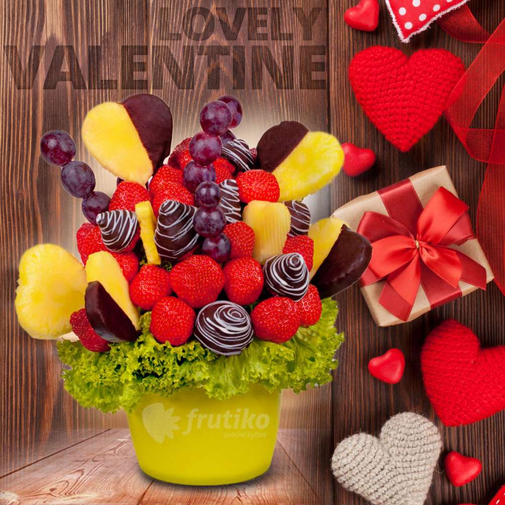 Ovocné kytice Frutiko jsou vyrobené z toho nejlepšího čerstvého ovoce. Některé kousky jsou navíc zdobené pravou belgickou čokoládou.