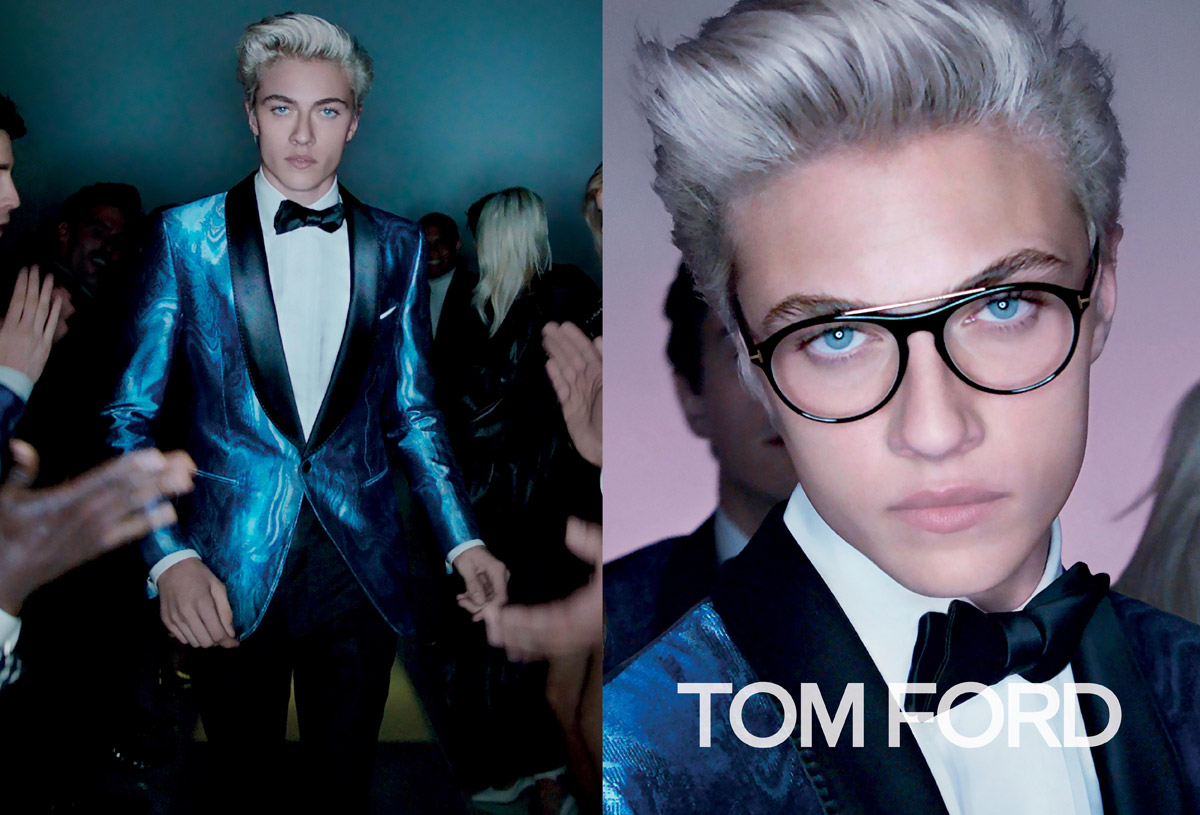 Trendy účesy 2016 v módních kampaních: Tom Ford, S/S 2016