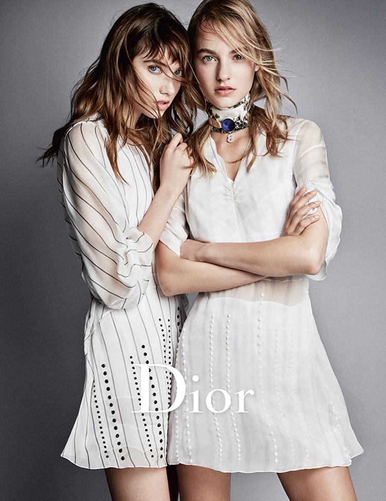 Trendy účesy 2016 v módních kampaních: Dior, S/S 2016.