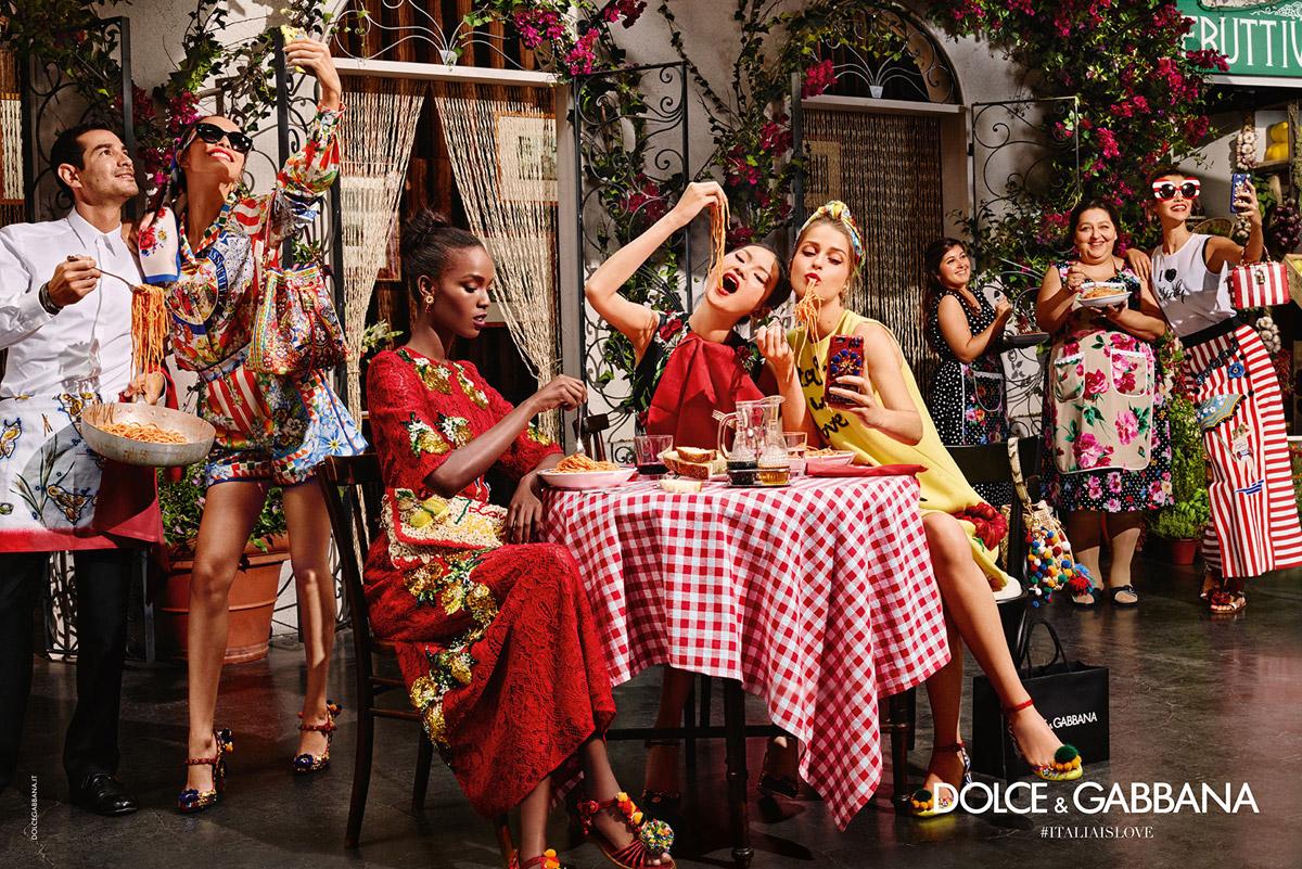 Trendy účesy 2016 v módních kampaních: Dolce&Gabbana, S/S 2016.