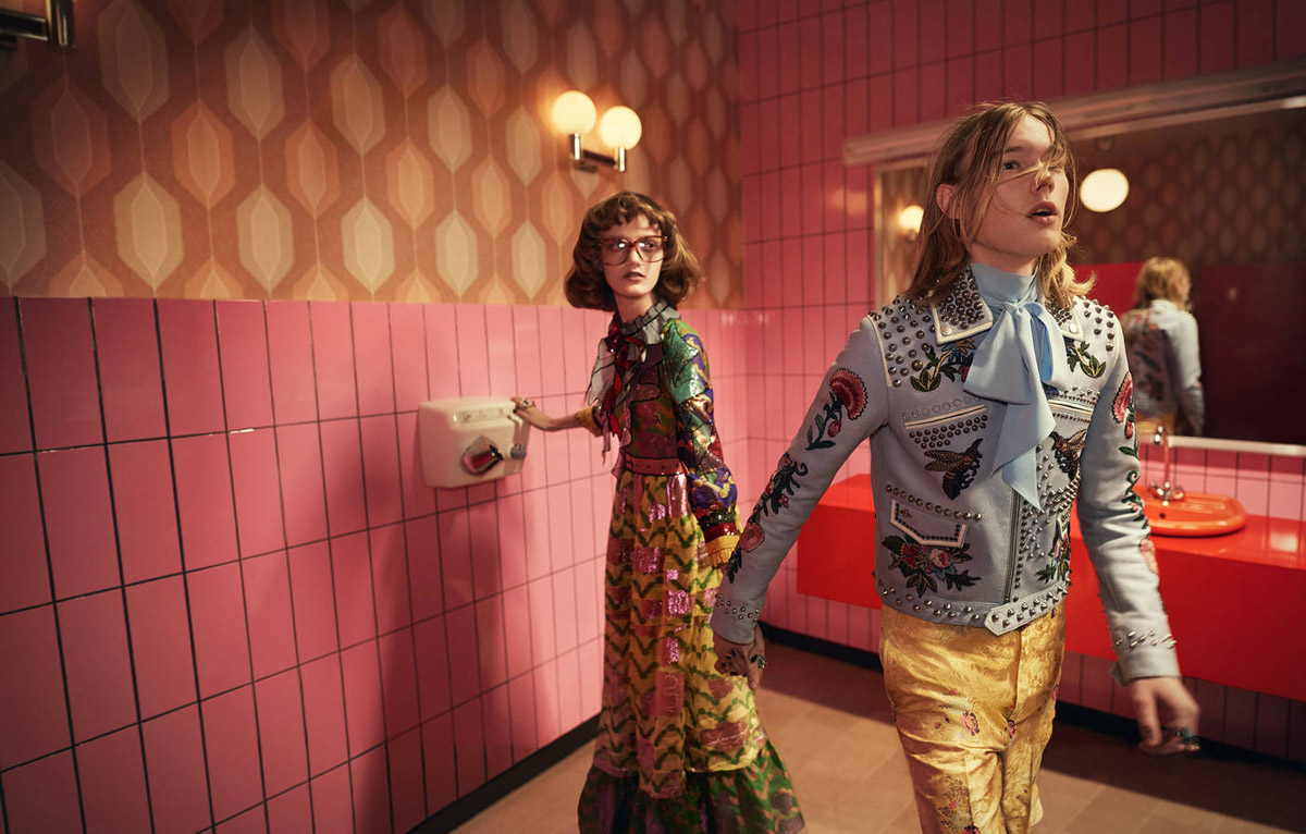 Trendy účesy 2016 v módních kampaních: Gucci, S/S 2016.