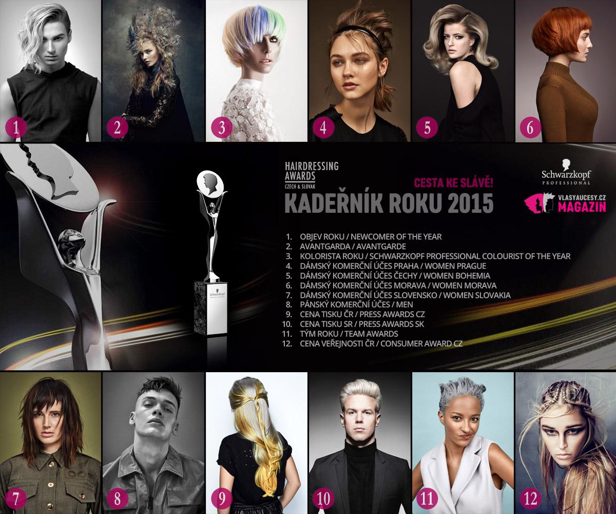 Kadeřník roku 2015, neboli soutěž Czech and Slovak Hairdressing Awards jde do finále. Vítěze Kadeřníka roku představí slavností galavečer v dubnu 2016.