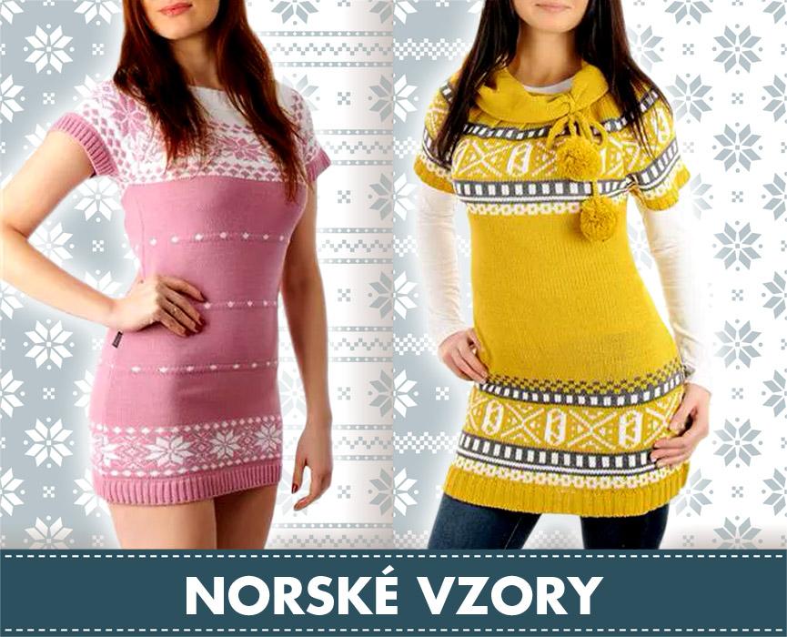 Móda s norskými vzory neztrácí na popularitě. Oblečení na obrázku nabízí e-shop Krasaprozeny.cz.