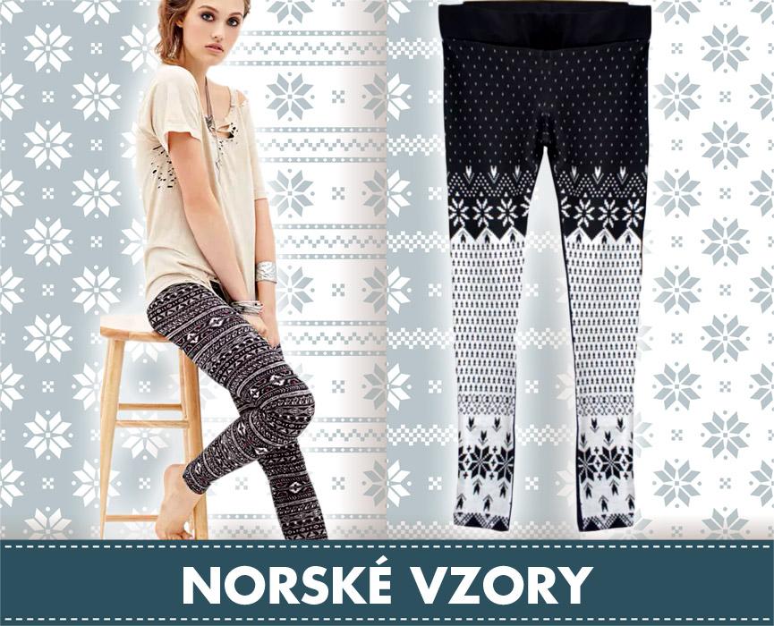 Norské vzory potěší i jako součást ležérního volnočasového oblečení. Leginy s norskými vzory na obrázku nabízí e-shop Krasaprozeny.cz.