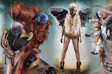Eva Komínková – avantgardní účesy z kolekce Mad Max.