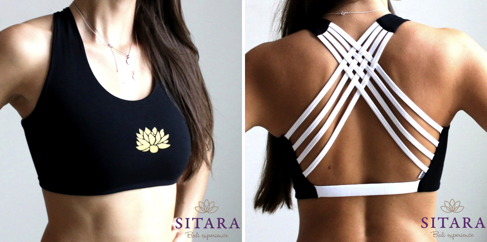 Oblečení na jógu Sitara zdobí symboly spojené s filosofií jógy.