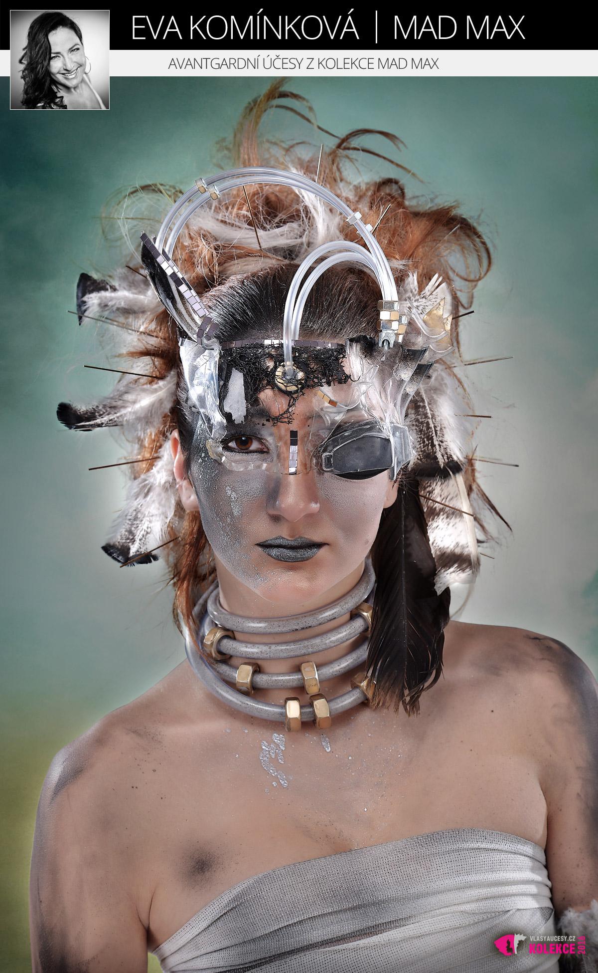 Avantgardní účesy Evy Komínkové z kolekce Mad Max.