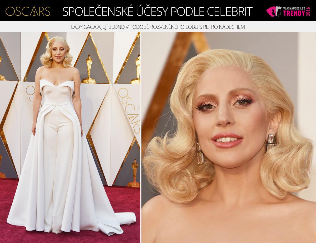 Společenský účes Lady Gaga – Oscar 2016.