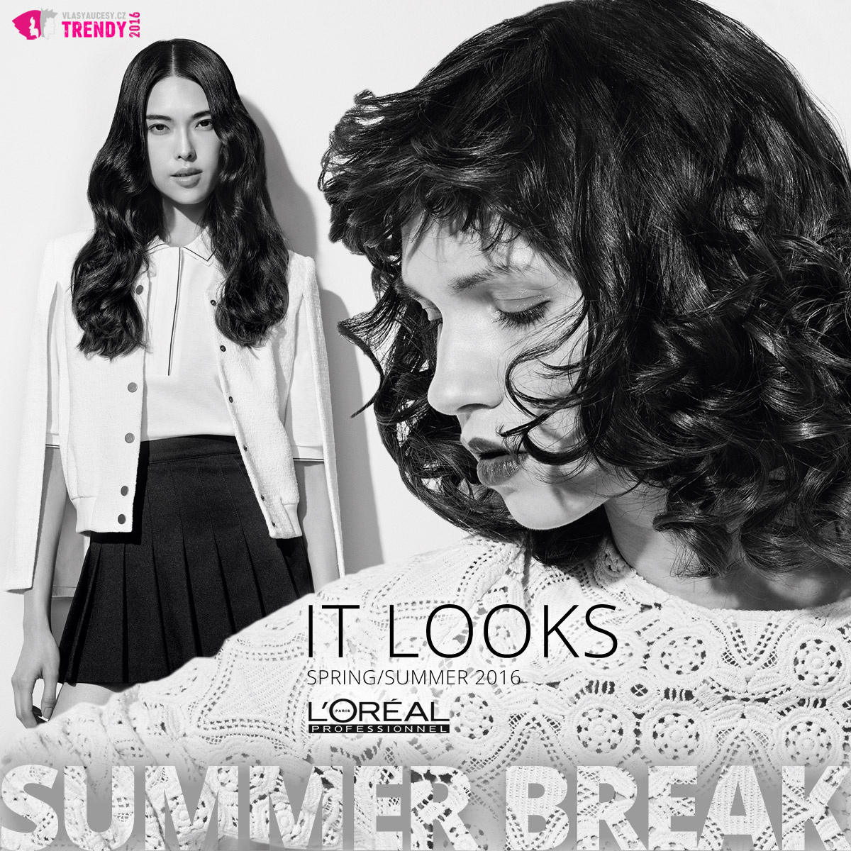 L'Oréal Professionnel představuje své IT looks SS 2016. Pojďte se podívat na módní trendy pro jarní a letní účesy 2016.