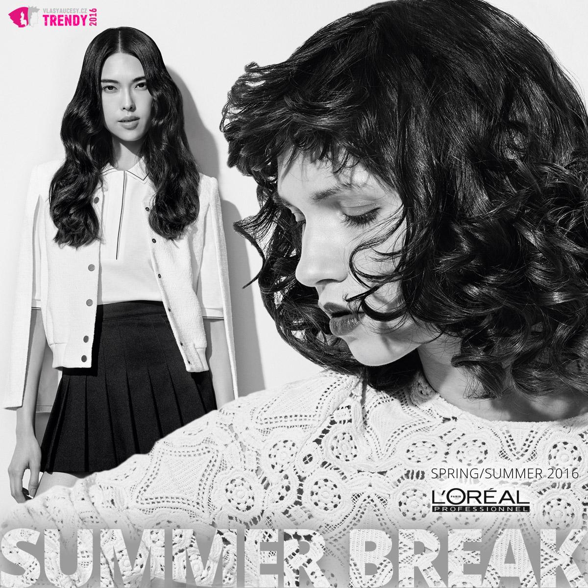 L'Oréal Professionnel představuje svoji kolekci Summer Break SS 2016. Pojďte se podívat na módní trendy pro jarní a letní účesy 2016. (Účes Flave a Curly Hair.)