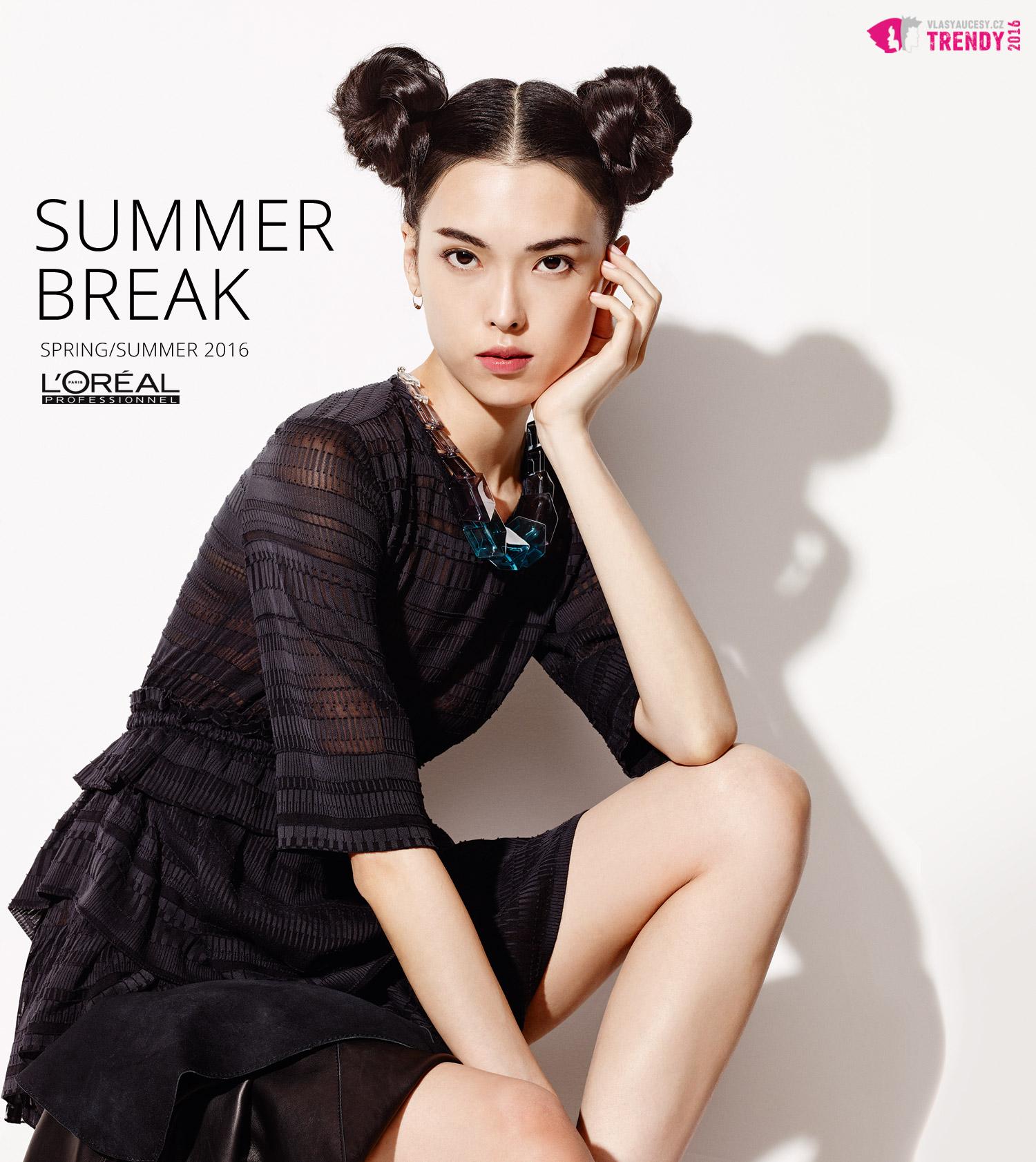 Pletky s vlásky, aneb pletená inspirace v kolekci účesů Summer Break SS 2016 od L'Oréal Professionnel. (Účes Double Bun.)