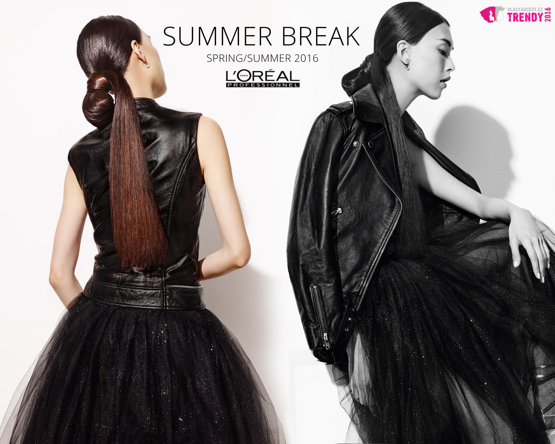 Hravý ponytail jako skvělá inspirace pro moderní jarní a letní účes z kolekce Summer Break SS 2016 od L'Oréal Professionnel. (Účes Bunny Tail.)