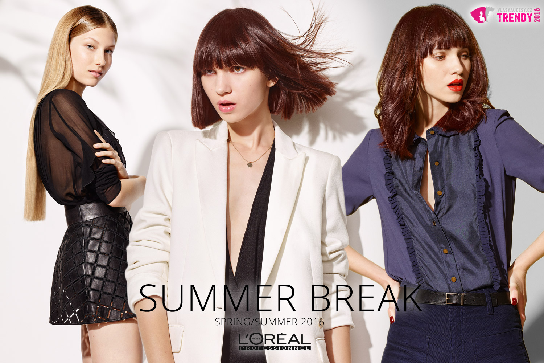Barvy jara a léta podle nových účesů L'Oréal Professionnel. (Účes Extra Sleek, Bob, French Girl Hair.)