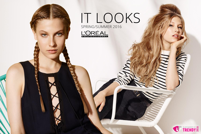 Co je trochu retro, to je moderní. Inspiraci najdete v kolekci IT looks SS 2016 Summer Break od L'Oréal Professionnel.